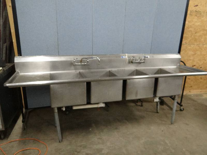 Stainless 110 Commercial 4 Compartment Sink On Legs New Year ...