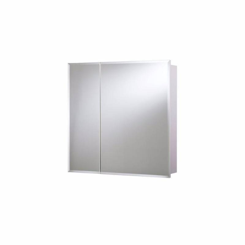 Medicine Cabinet With Easy Hang System In White Home