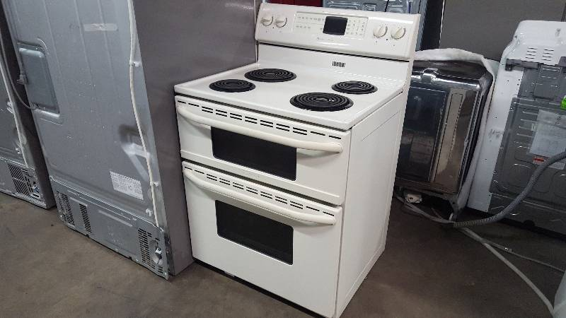 Maytag 30 in double oven convection electric range appliance mart factory washer dryer oven - Maytag electric double oven range ...