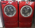 LG Tromm Red matching set washer & dryer