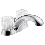Two Handle Centerset Lavatory Faucet - Metal Pop-Up
