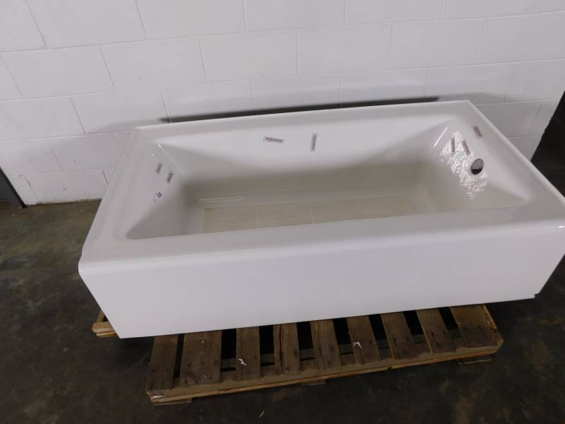 kohler cast iron bath tub right hand drain 60 x 32 tuesday nigh