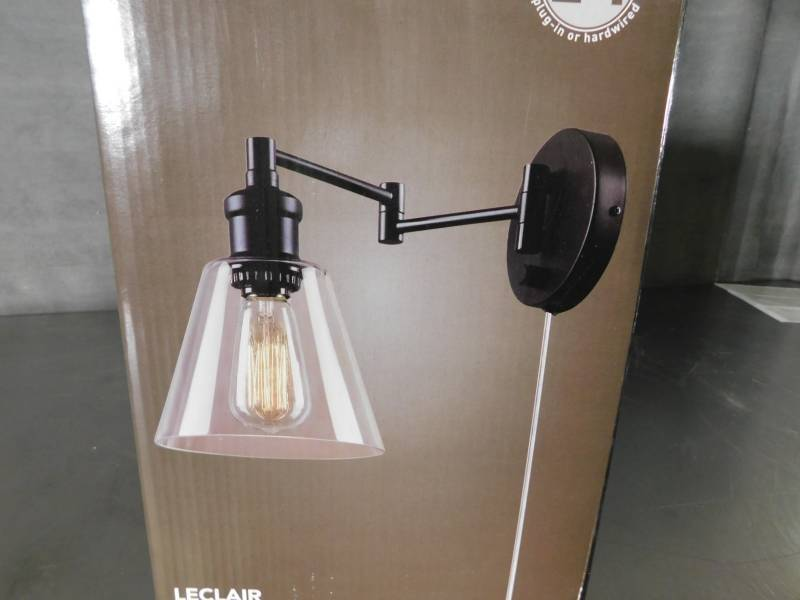 Globe Electric 65311 1 Light Plug-In Industrial Wall