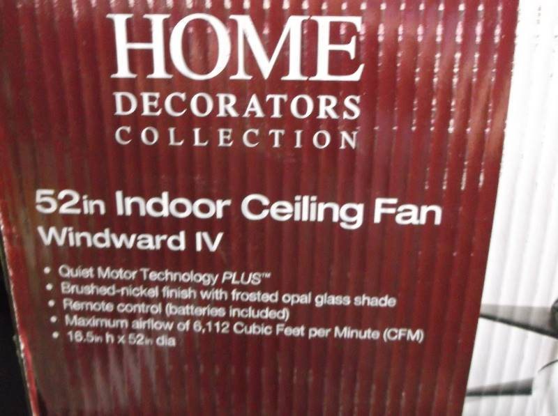 Home decorators 52 inch indoor ceiling fan windward iv Home decorators windward iv
