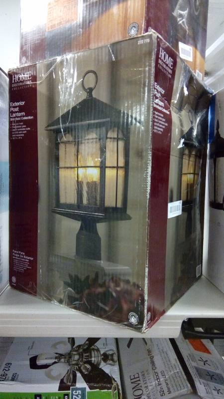Brimfield 3 Light Outdoor Aged Iron Post Light Builder