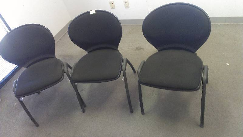 Lot Of 3 Office Chairs Jr Sales Surplus Liquidation