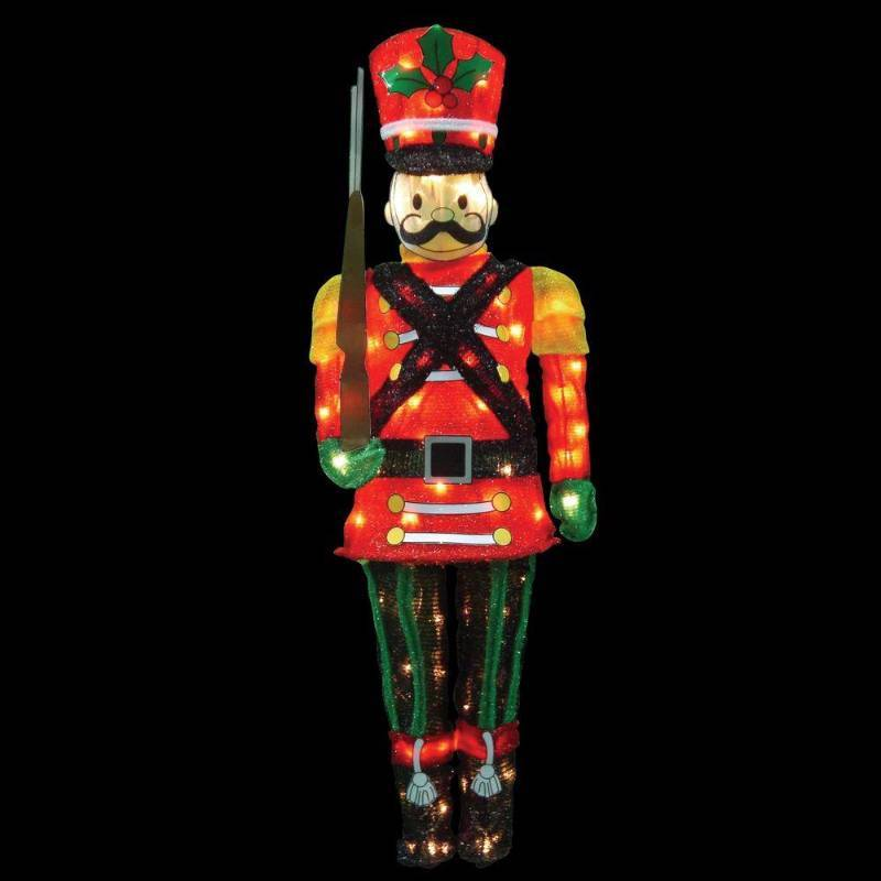60 3d flat back lighted nutcracker toy soldier new for 4 foot nutcracker decoration