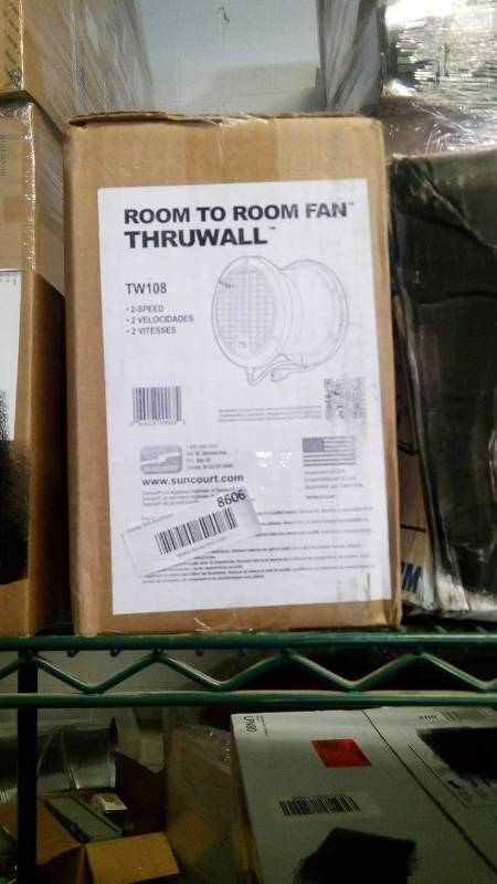 Thruwall Room To Room Fan : Suncourt tw thruwall transfer fan inch tool