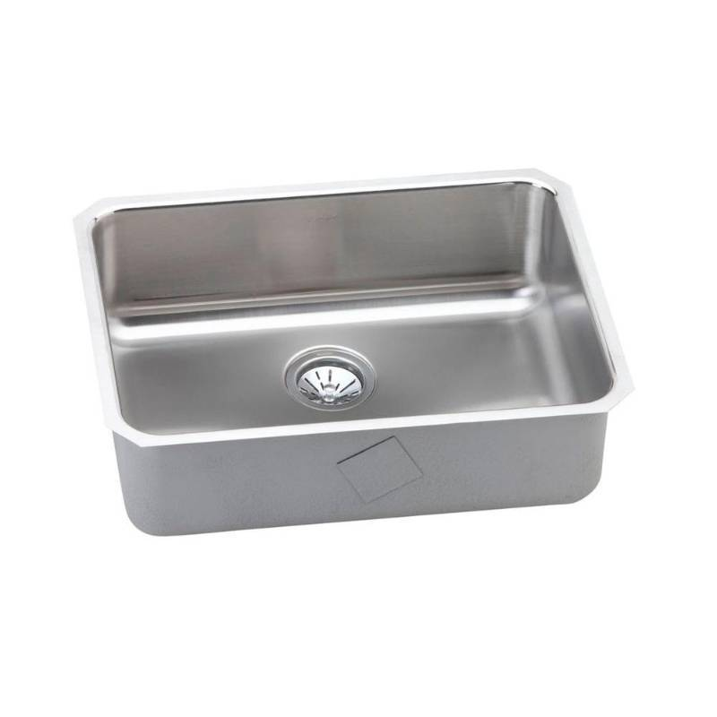 25 inch undermount kitchen sink elkay eluh2317 stainless steel center drain gourmet 18 3 4 7307