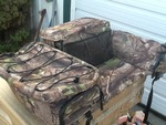 Very nice ATV camo  storage great for hunting trip or just around the farm