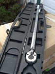 "Large 3/4"" click torque wrench with case"