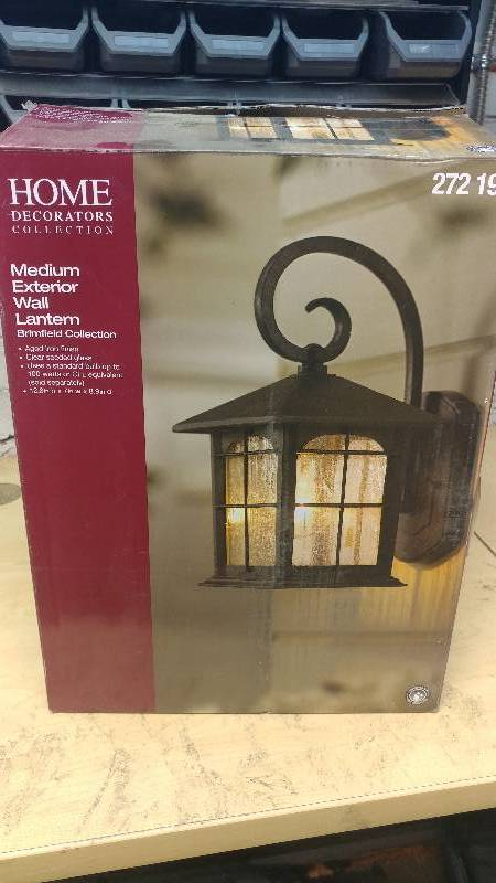 Home Decorators Collection Brimfield Medium Exterior Wall Lantern Ceiling Fans Led Bulbs