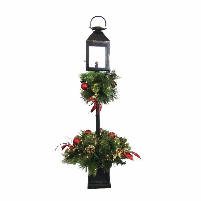 Home accents holiday holiday ornaments decor 4 ft pre for Artificial christmas decoration tree