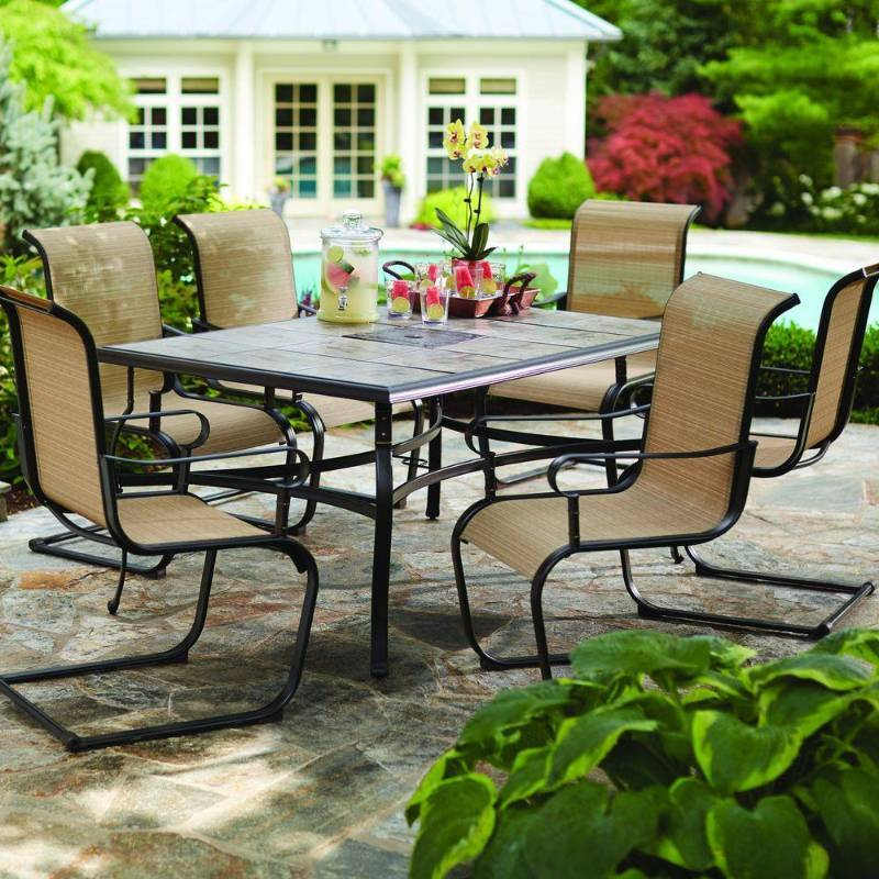 Hampton Bay Dining Furniture Belleville 7 Piece Patio Set Fcs80198st Home Decorator Tool Equipment Auction Equip Bid