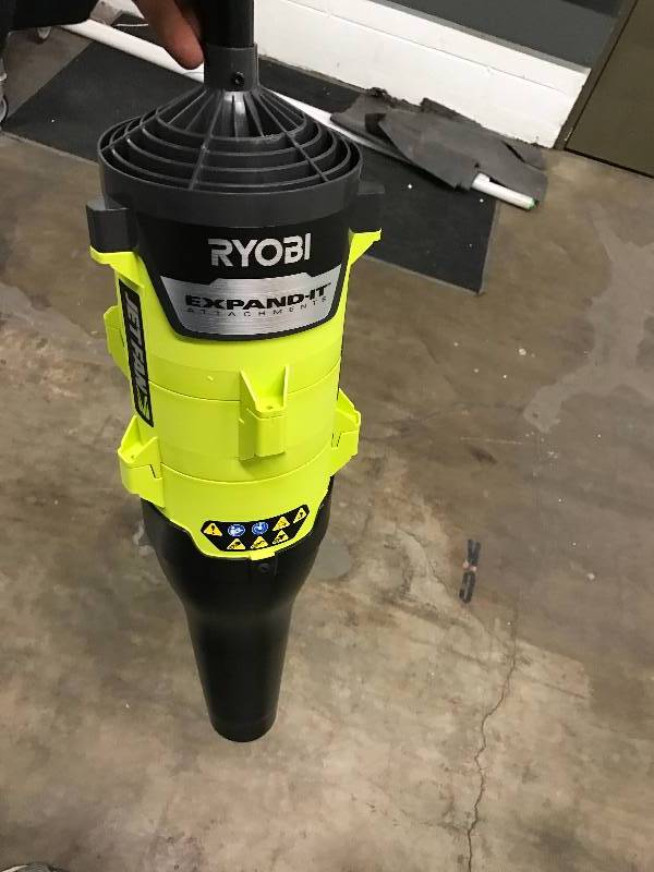 ryobi expand it 140 mph 475 cfm universal axial blower attachment home decorator patio tool. Black Bedroom Furniture Sets. Home Design Ideas