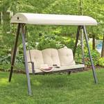 Hampton Bay Cunningham 3-Person Patio Swing with Canopy