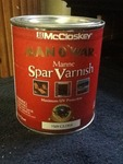 4 quarts of spar varnish gloss this is a great outside varnish high dollar items