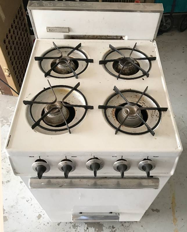 Small Apartment Size Gas Stove with Oven and Broiler ...