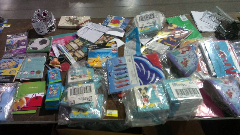 Large Lot Of Birthday And Seasonal Party Supplies Jr