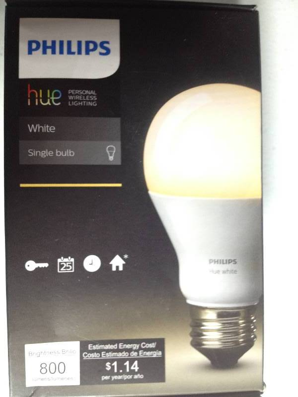 Philips Hue Led Personal Wireless Lighting White Single