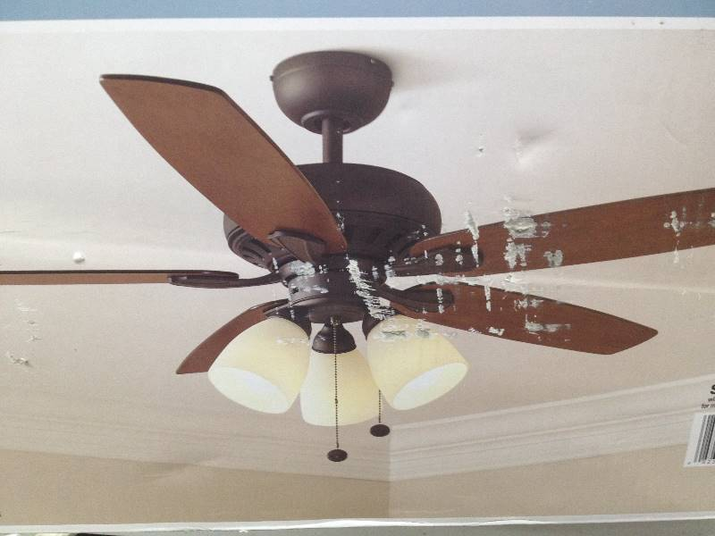 Hampton Bay LED 52 Inch Large Room Ceiling Fan Oil Rubbed Bronze Finish Q