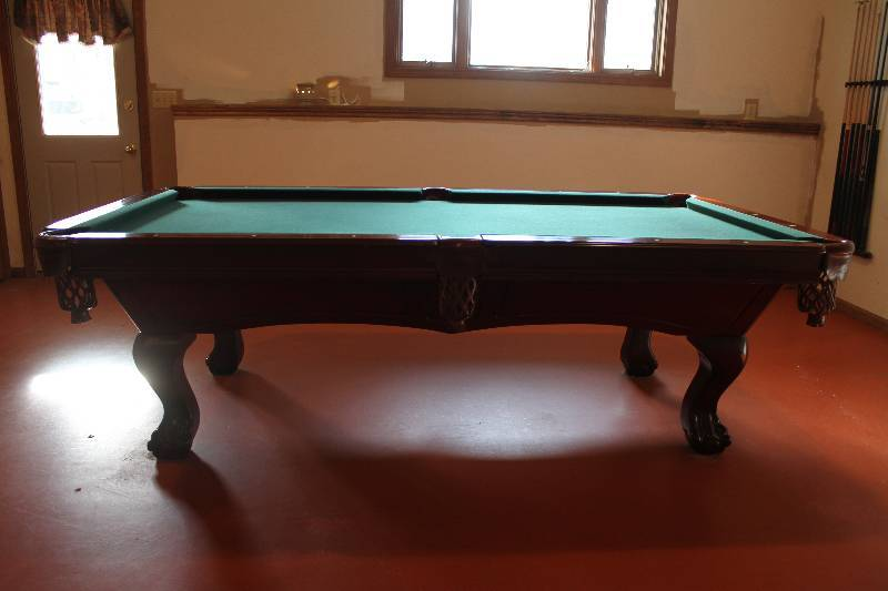 regulation size pool table very nice rare dragon claw foot holt