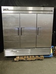 True 3 Door Stainless Steel Freezer