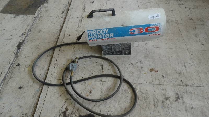 Reddy Heater Rlp 30 30000 Btu Propane Wichita Commercial Equipment Fixture Auction Equip Bid