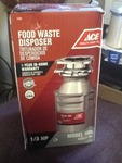 New in box garbage disposal as a picture