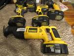 DeWalt 18volt Drill Set w/ Impact Drill, Drill, Flashlight, Sawz-ALL, 4 batteries and 2 chargers! WORKS GREAT!!