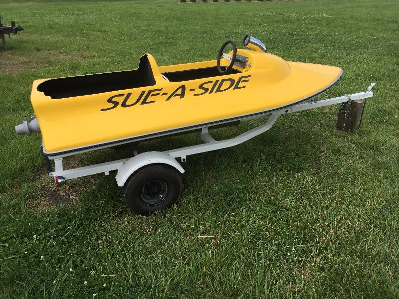 Sue a side mini jet boat with trailer completely restored for Jet motors mini for sale