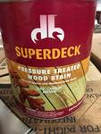 4 GALLONS OF SUPERDECK WOOD STAIN 2007 CANYON BROWN