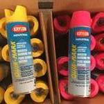 24 Cans of Marking Spray Paint Yellow and Pink