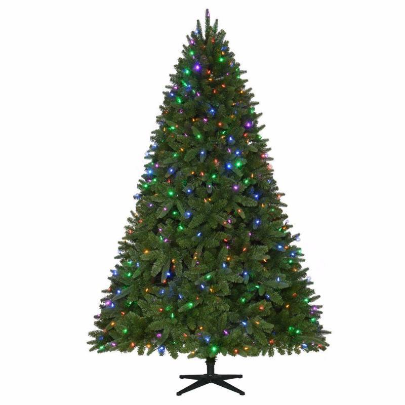 12 Ft Pre Lit Christmas Tree Costco: 7.5 Ft. Pre-Lit LED Sierra Nevada PE/PVC Quick-Set