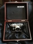 Minox  small James Bond style mini digital camera with case very neat