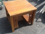 Mission style wooden in table