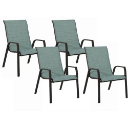 Incredible Sonoma Outdoors Coronado Stackable Sling Patio Chair 4 Download Free Architecture Designs Meptaeticmadebymaigaardcom