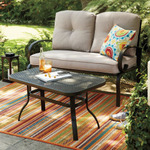 SONOMA outdoors Claremont Patio Loveseat & Coffee Table 2-piece Set, Beige/Khaki