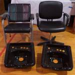 Beauty Shop Equipment - 2 Chairs & 2 Sinks