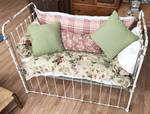 Very Ornate Wrought Iron Antique BABY CRIB BED with Sliding Rail - Super Nice Pillows Included