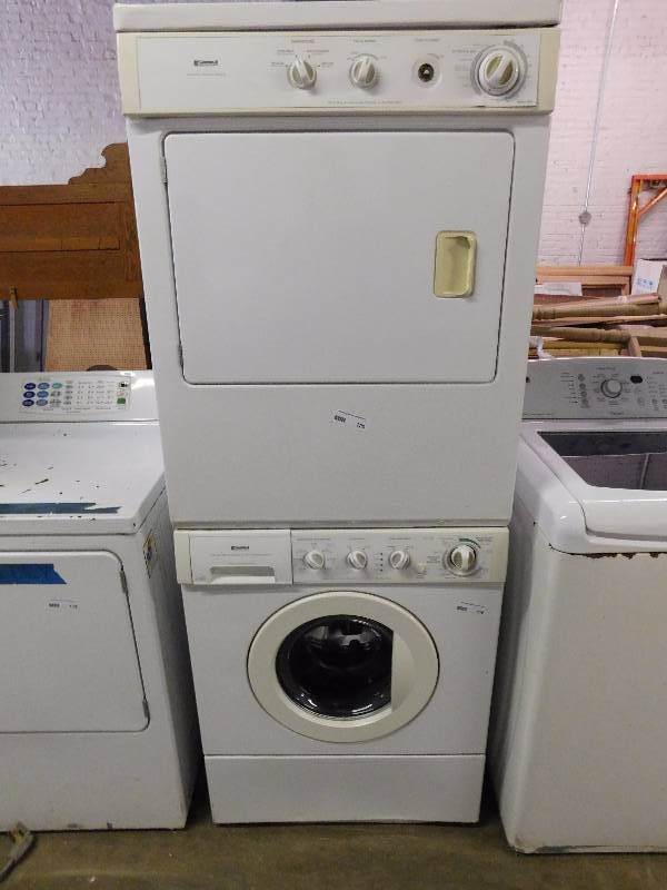 Kenmore Stackable Washer Dryer Combo Downtown Kc Warehouse Liquidation Equip Bid