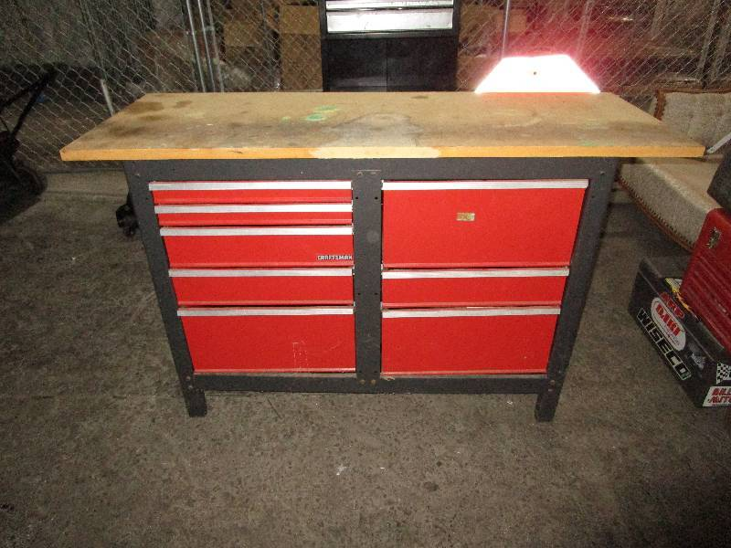 Craftsman Tool Bench Hidy Ho It 39 S Tool Time Auction By Fleetsale Equip Bid