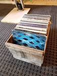 Wood Crate Full of Albums