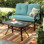 SONOMA outdoors Claremont Patio Loveseat & Coffee Table 2-piece Set, Blue