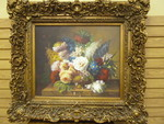 LARGE OIL PAINTING WITH REALLY REALLY ORNATE FRAME