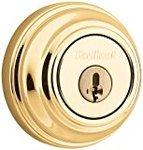 Kwikset 980 Single Cylinder Deadbolt featuring SmartKey? in Polished Brass