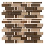 Heritage Cold Pencil 12 in. x 12 in. x 8 mm Glass Mosaic Wall Tile
