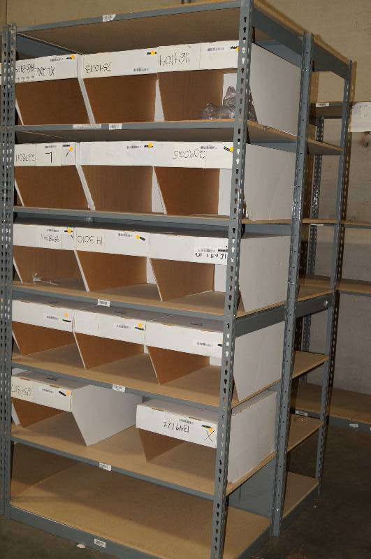 Rivetier Brand Steel Teardrop Shelving unit with 7 Shelves