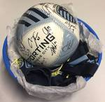 "Sporting Kansas City Team Signed Soccer Ball with 23 Signatures & ""Kick Childhood Cancer"" Scarf including Dom Dwyer, Graham Zusi, Matt Besler, Chance Myers, and more!"