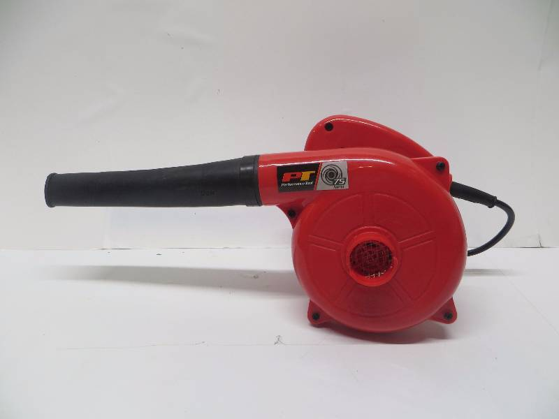 Performance Tool W50064 Single Speed Compact Red 600 Watt Garage//Shop//Blower//Patio Blower 16,000 Max RPM, 75+ MPH Air Flow